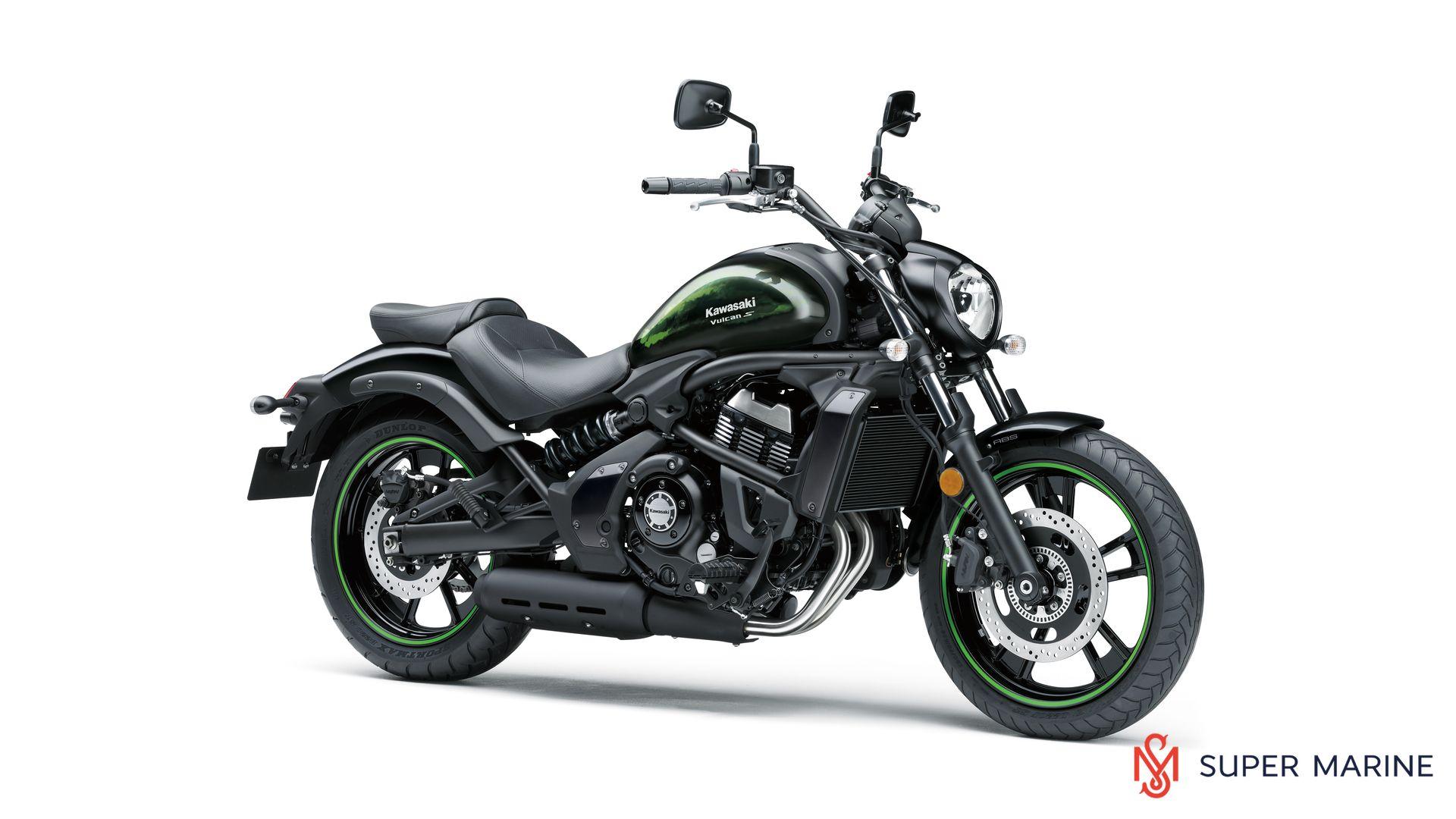 Мотоцикл Kawasaki Vulcan S ABS Черно-Зеленый 2020 - 1