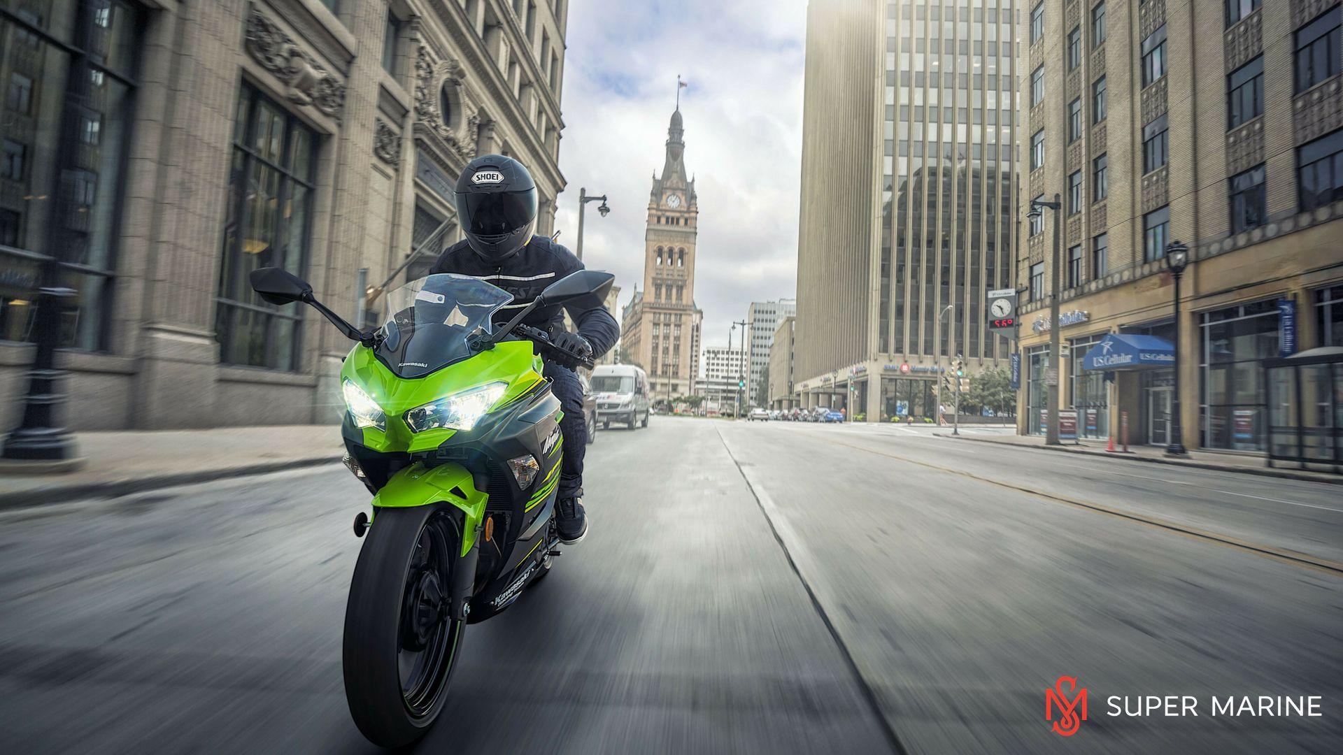 Мотоцикл Kawasaki Ninja 400 Зеленый 2020 - 13