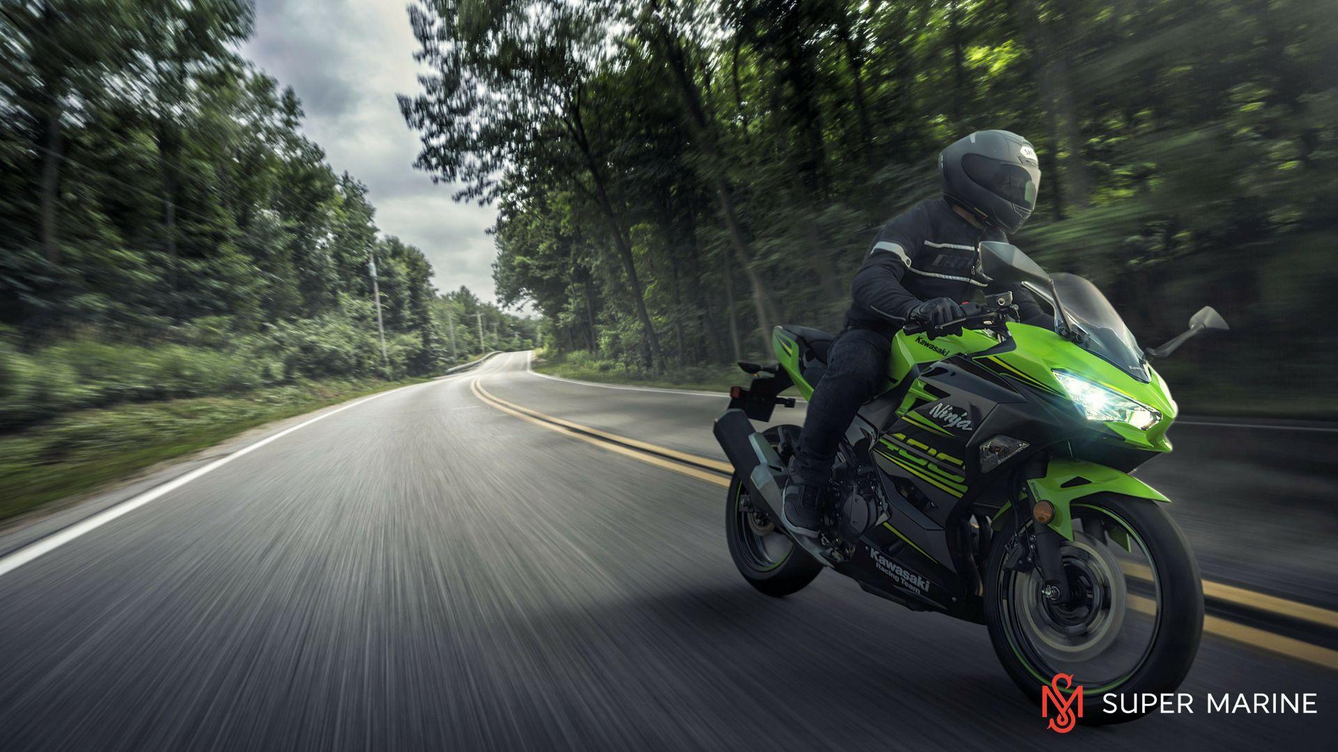 Мотоцикл Kawasaki Ninja 400 Зеленый 2020 - 7