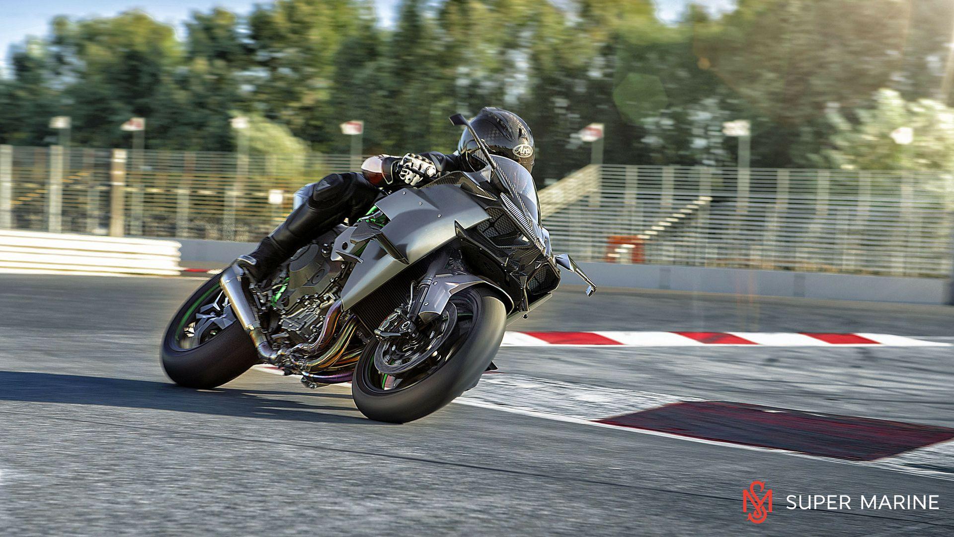 Мотоцикл Kawasaki Ninja H2R Серый 2020 - 5