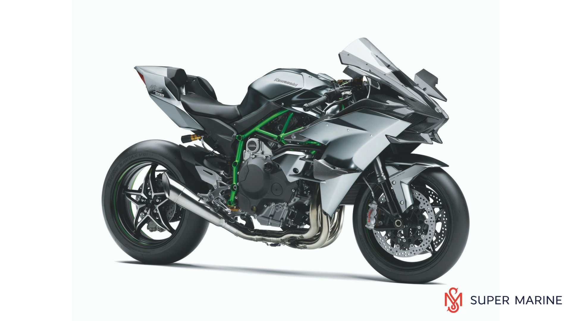 Мотоцикл Kawasaki Ninja H2R Серый 2020 - 1