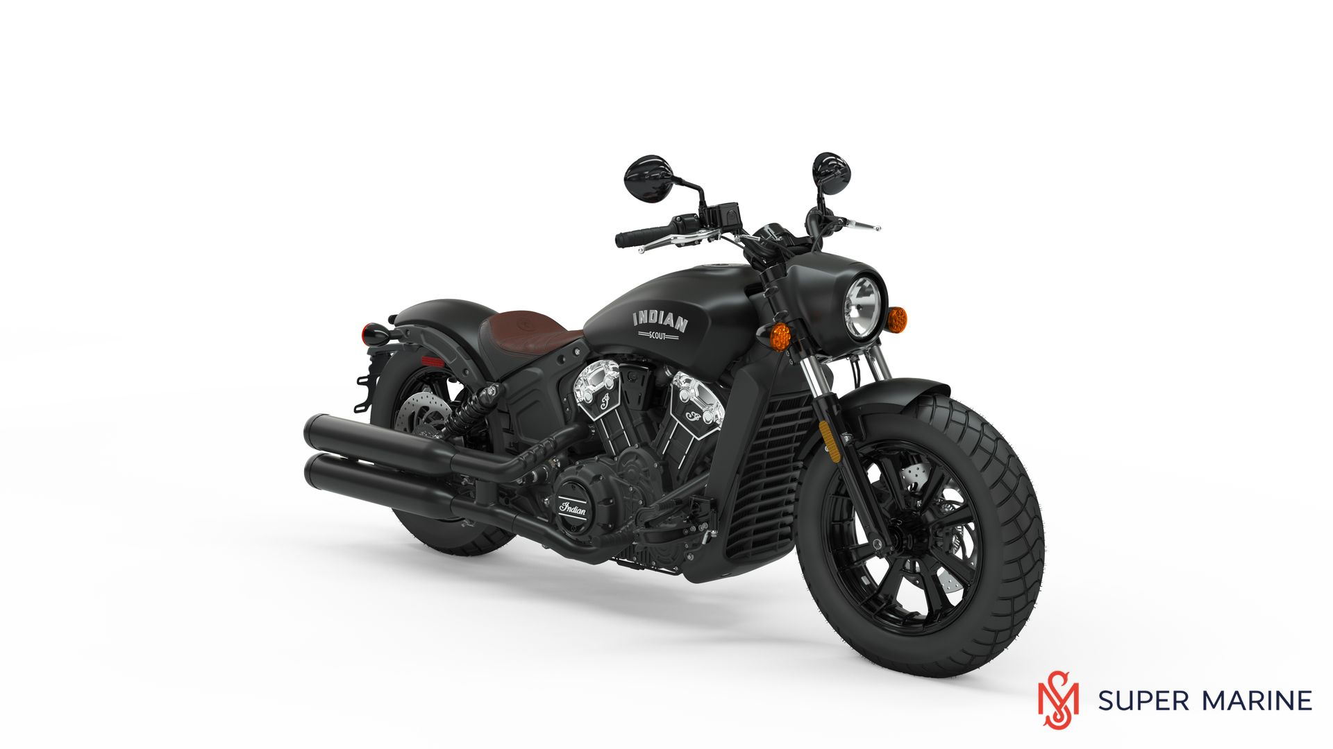 Мотоцикл Indian Scout Bobber Thunder Black Smoke 2020 - 1