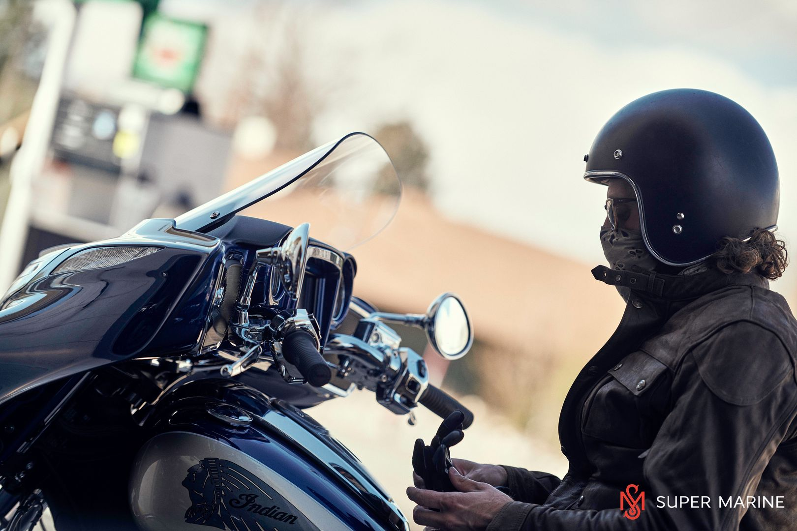 Мотоцикл Indian Chieftain Classic Deep Water Metallic / Dirt Track Tan 2019 - 18