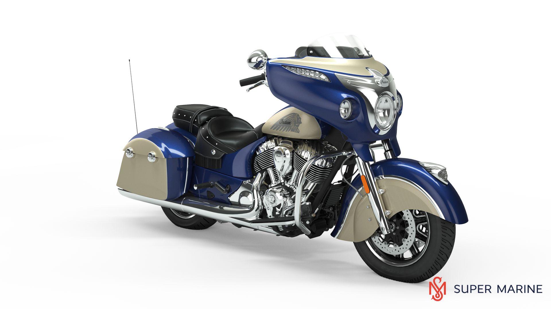 Мотоцикл Indian Chieftain Classic Deep Water Metallic / Dirt Track Tan 2019 - 1