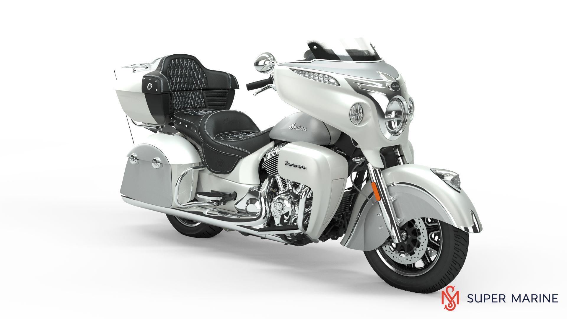 Мотоцикл Indian Roadmaster Pearl White / Star Silver 2019 - 1