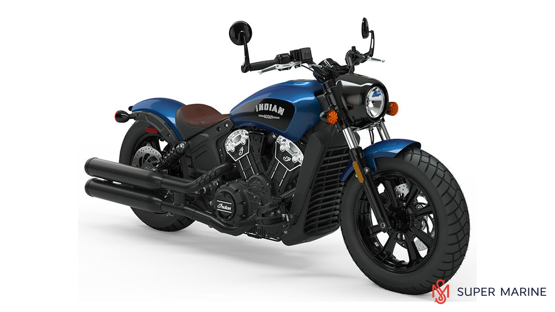 Мотоцикл Indian Scout Bobber Icon Brilliant Blue 2019 - 1