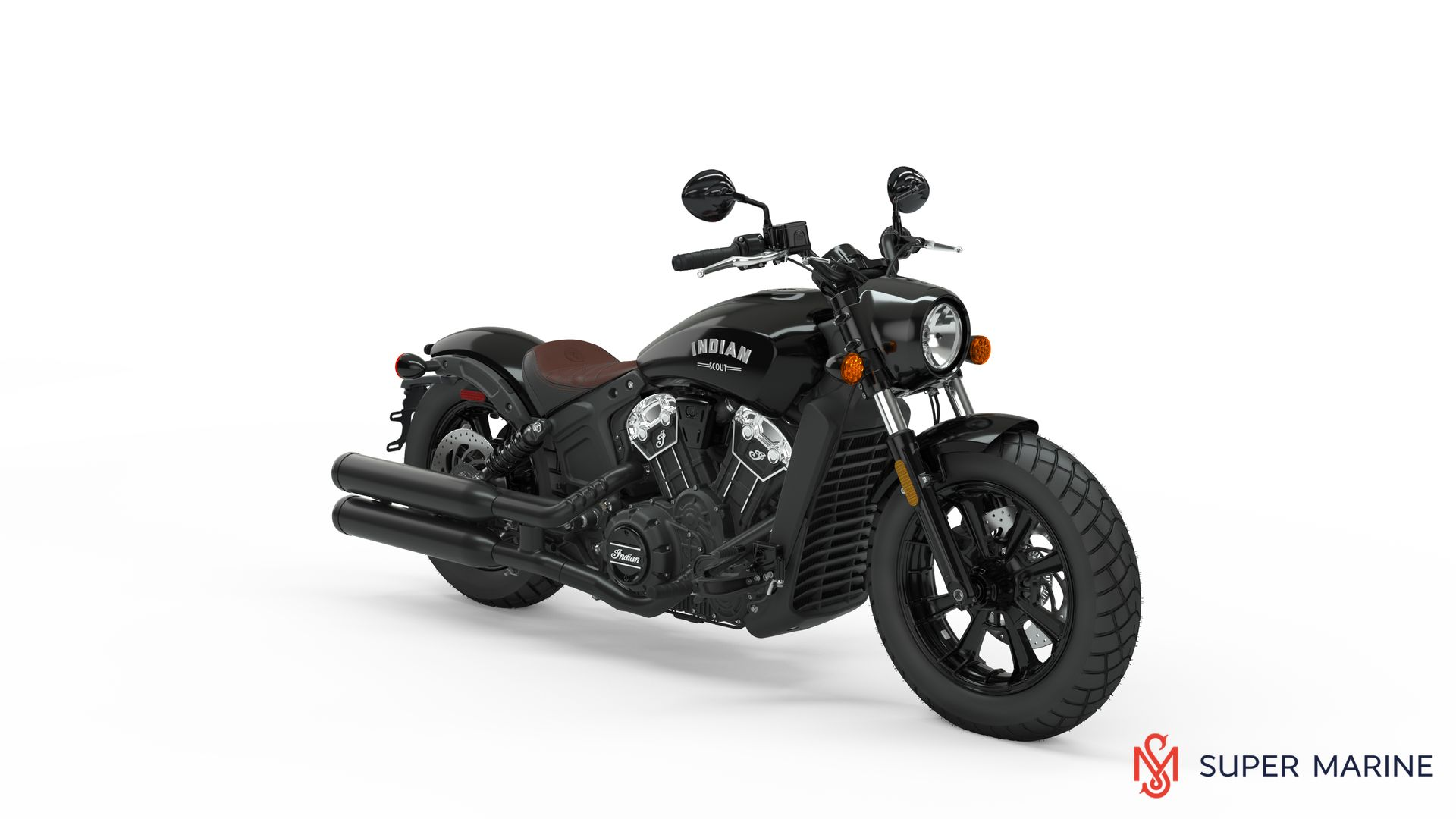 Мотоцикл Indian Scout Bobber Thunder Black 2020 - 1