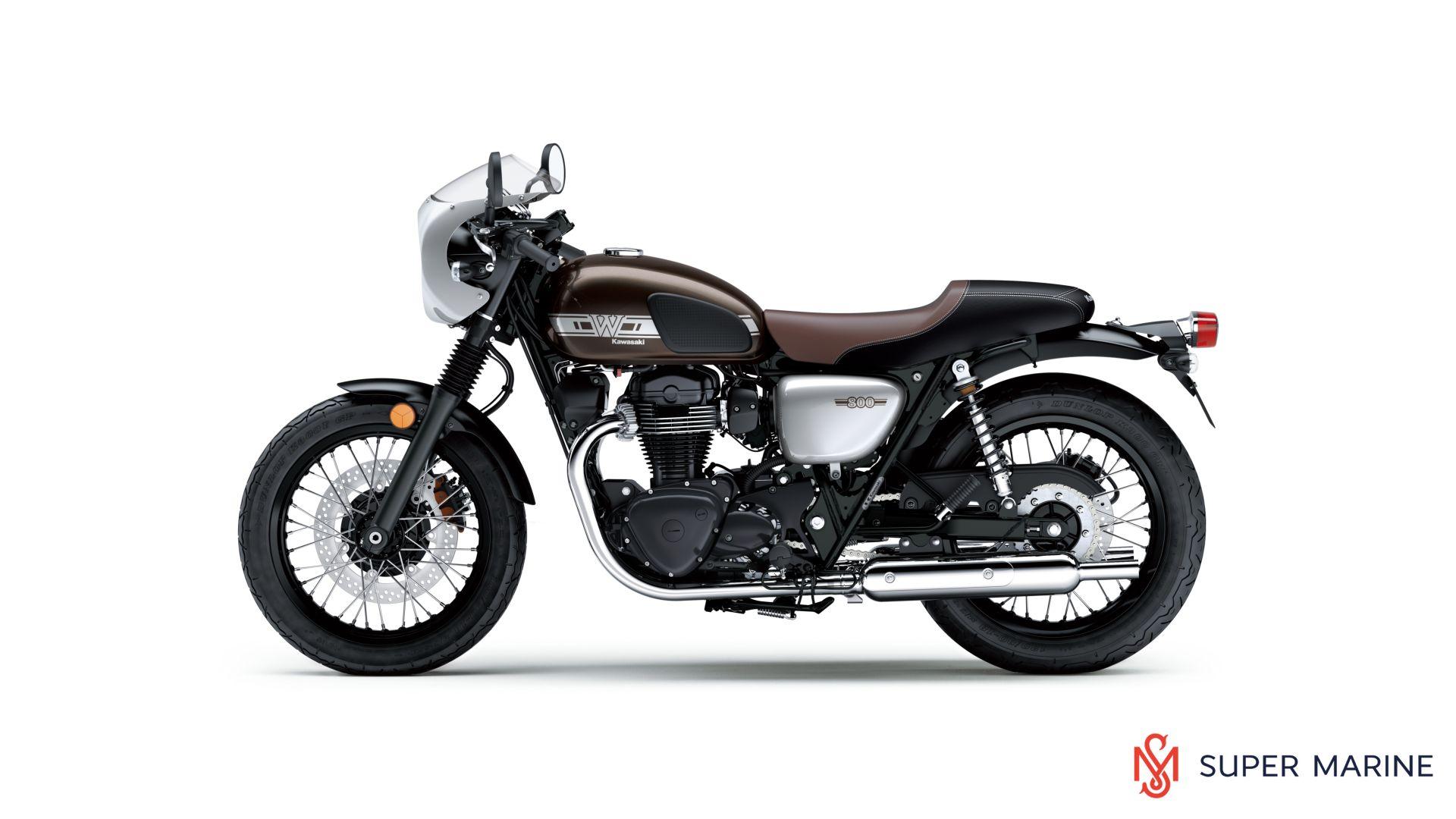 мотоцикл Kawasaki W800 Cafe серый 2019 супер марин мотосалоны и