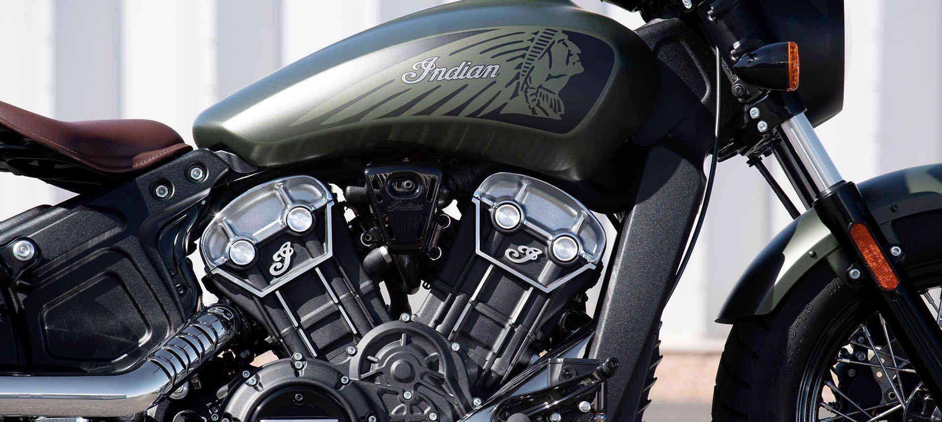 Мотоцикл Indian Scout Bobber Twenty Sagebrush Smoke 2020 - 3